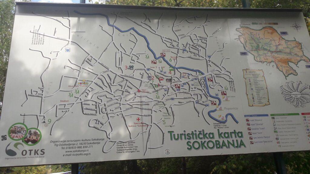 Sokobanja turistička mapa